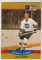 1990 Pro Set #660 Gordie Howe card, Detroit Red Wings HOF