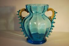 Victorian Ribbed Glass Vase with Pinched Handles          #9010