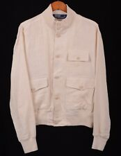Polo Ralph Lauren Cream 100% LINEN Blouson Bomber Jacket Coat M