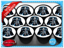 12 Star Wars Darth Vader Edible Icing Image Cupcake Decoration Party Toppers