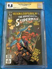 Adventures of Superman #503 - DC - CGC SS 9.8 NM/MT - Signed by Grummett, Kesel