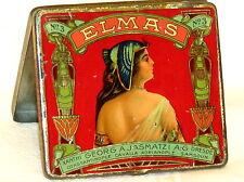 Turkish Constantinople Greek Elmas Lady Elegant 10 Cigarette Tobacco Tin 1910s
