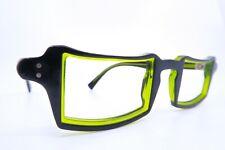 Vintage DULF Designer Paoli Seminara eyeglasses frames green black acetate