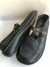 BORN Womens Shoes Leather Slip On Mary Jane Mules Shoes W6824 Clog Black