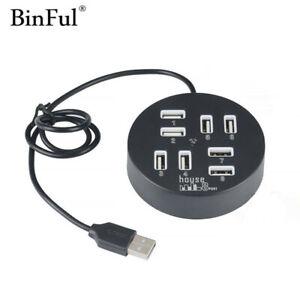High Speed 8 Port USB 2.0 Hub USB Port Mini Portable USB Splitter for Macbook