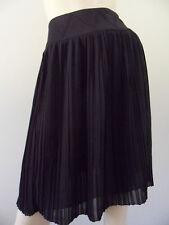 ZAC POSEN for Target black chiffon pleated skirt knee length size 6 EUC