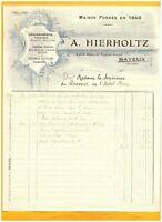 """BAYEUX (14) CHAUDRONNERIE FUMISTERIE PLOMBERIE """"A. HIERHOLTZ"""" en 1925"""