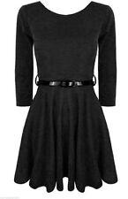 Vêtements noir habillé en polyester pour fille de 2 à 16 ans