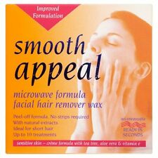 Smooth Appeal Microwave facial hair removal Wax for upper lip sideburns chin