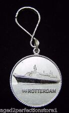 Vintage SS ROTTERDAM Ocean Liner Cruise Ship Hotel Advertising Keychain Key Hldr
