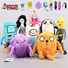 8X Adventure Time Finn Jake BMO Marceline Lemon Grab Lumpy Gunter Plush Toy Doll