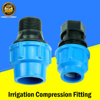 MDPE Quick Connecor Adaptor Compression Fitting Water Pipe Irrigation