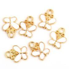 10pcs Gold Butterfies Beads Charms Enamel Pendant Fit DIY Bracelet 12*14mm