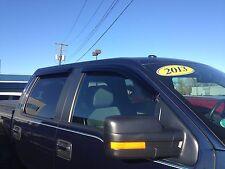 JSP 218102 Ford F150 SuperCrew Side Window Deflector 2009-2014 Rain Guard Visor