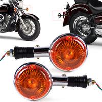 2X Amber Clignotant Indicateur pour Yamaha Royal V Star Virago Turn Signal Light