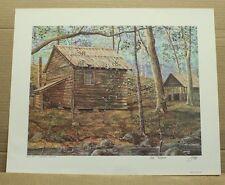 Grist Mill Timberlake Plantation Artist Griff Log Building stream rural scene