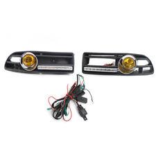2Pcs/Set Halogen Fog Light FOR VW BORA 99-04 LED DRL Amber Light Lamp