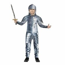 Children's Deluxe Armoured Knight Fancy Dress Costume Jumpsuit and Headpiece M