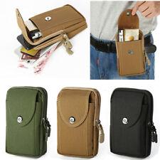 Luxury zipper Waist pack Hanging belt Card Wallet Canvas pocket Phone Case Cover
