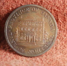 1844 Bank of Montreal Nicely Toned Uncirculated Canadian 1/2 Penny Token