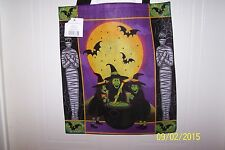 Nwt Trick Or Treat Halloween Large Candy Tote Bag Witches & Mummies