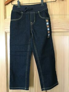 NWT Gymboree Boys Navy Blue Pull on Ribbed Waist Straight Jeans Outlet Many sz