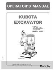 Kubota Excavateur T4 niveau U17-3 opérateur Manuel réimprimé Peigne Bound