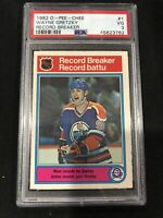 1982 O-Pee-Chee Record Breaker #1 Wayne Gretzky PSA 3