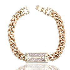 Markenlose mit Gelbgold beschichtete Modeschmuck-Armbänder im Ketten-Stil