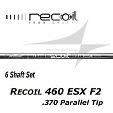 6 Shafts - UST Mamiya Recoil 460 ESX F2 Senior Flex .370 Parallel Tip Iron Shaft