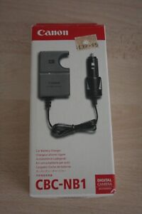 New boxed Canon CBC-NB1Car charger for NB-1LH batteries instruction leaflet #2.