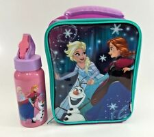 DISNEY FROZEN KIDS INSULATED SCHOOL SLIMLINE LUNCH BAG & DRINK BOTTLE