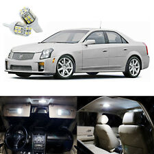 14 x White LED Interior Lights Package Kit For Cadillac CTS CTS-V 2003 - 2007