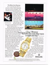 1994 Rolex Oyster Watch 24 Hours Of Daytona Hurley Haywood Vintage Print Ad