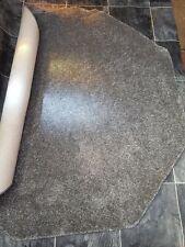 1.6m Grey Grey Fleck Octagon Mat Rug Soft Thick Cut Pile Carpet Felt Back XL#234