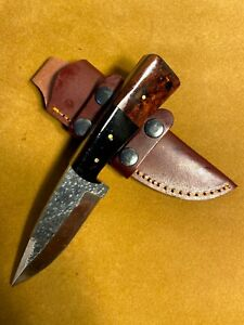 LOUIS MARTIN CUSTOM HANDMADE FIXED BLADE D2 TOOL STEEL ART HUNTER SKINNER KNIFE
