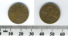 Switzerland 1963 - 2 Rappen Bronze Coin - Cross