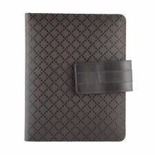 "Gucci Chocolate Brown ""Hilary Lux Diamante"" Leather Case For Ipad"