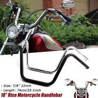 "7/8"" 22mm Motorrad Z Lenker 10'' Rise Handlebar Stahl Für Suzuki Honda CG Harley"