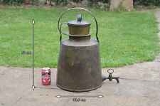 old vintage brass coffee tea brew kettle antique coffee filter  - FREE DELIVERY