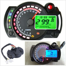 15000rpm 7-Color Backlight Motorcycle ATV LCD Digital Speedometer Tachometer Kit