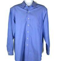 Brooks Brothers 346 Button Up Dress Shirt Mens 16.5 - 4/5 Non Iron Blue