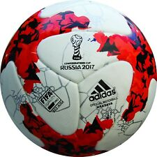 Adidas Krasava Confederation Cup 2017 Official Match Ball Soccer White/Red