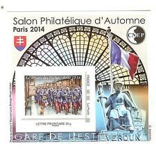 """BLOC CNEP N° 67 **  2014 PARIS SALON PHILATELIQUE D'AUTOMNE LUXE """"LES POILUS"""""""