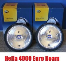 HELLA RALLYE 4000 LUMINATOR Chrome Euro Beam Converted 100W HID Driving Lights