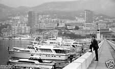 MONACO GRAND PRIX 1966 BOATS IN THE HARBOUR PHOTOGRAPH FORMULA ONE YACHTS