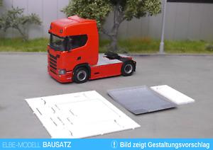 1:87 EM627 Bausatz für Chassis Vollverkleidung Scania 4x2 tief mit Riffelblech