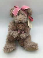 Russ Berrie Marmie Brown Teddy Bear Bow Baby Plush Soft Stuffed Toy Animal Doll