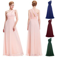 One-Shoulder Long Bridesmaid Wedding Evening Cocktail Party Prom Dress PLUS SIZE