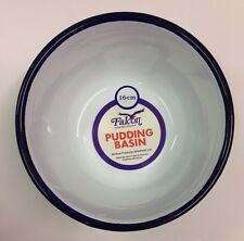 Falcon Enamel Pudding Basin - Traditional White 16cm - Camping Caravan